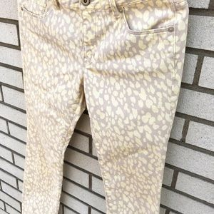 LOFT Jeans - LOFT Yellow Animal Print Modern Straight Leg Jeans